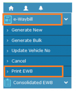 How to Generate e waybill, step 2