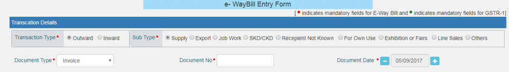 How to Generate e waybill, step 4